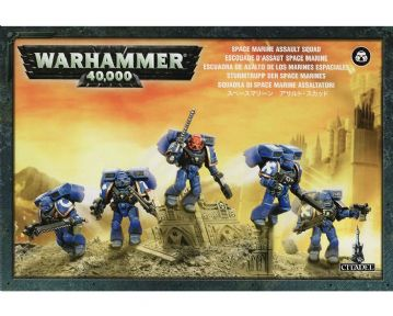 Games Workshop Warhammer 40000 40K Space Marine Assault Squad 48-09